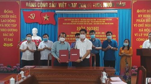 Ban Tuyên giáo Tỉnh ủy Hà Giang ký kết chương trình phối hợp thực hiện Quy chế 238 của Ban Bí thư