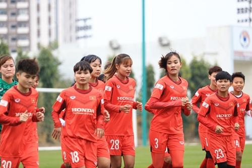 Tuyển nữ Quốc gia tập huấn chuẩn bị tham dự vòng loại Asian Cup 2022