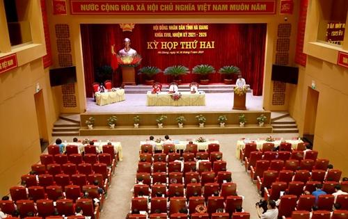 Hà Giang Khai mạc Kỳ họp thứ hai HĐND khóa XVIII, nhiệm kỳ 2021 – 2026