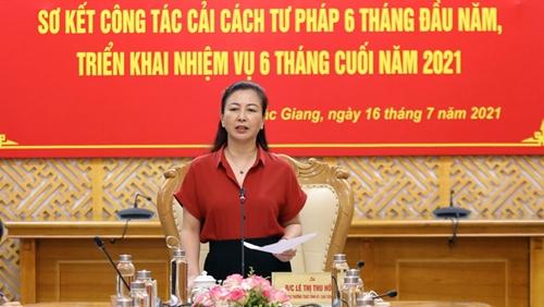 Bắc Giang Nâng cao chất lượng công tác cải cách tư pháp