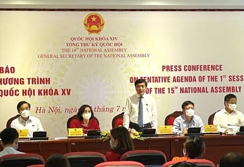 Kỳ họp thứ nhất, Quốc hội khóa XV sẽ kiện toàn 50 nhân sự cấp cao