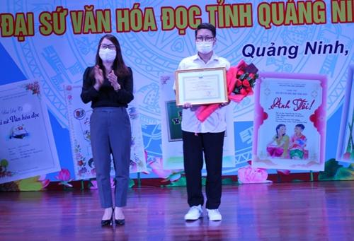 Trao giải cuộc thi Đại sứ Văn hóa đọc tỉnh Quảng Ninh năm 2021