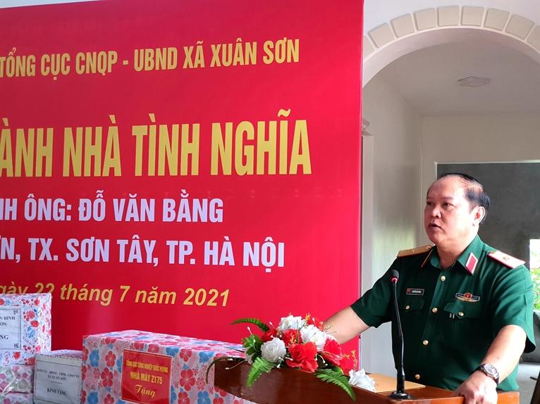 Tổng cục Công nghiệp Quốc phòng trao tặng Nhà tình nghĩa nhân dịp 27 7