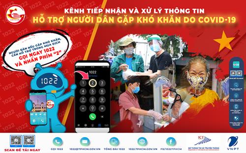 Khi gặp khó khăn do COVID-19, người dân TP Hồ Chí Minh có thể gọi 1022 để được hỗ trợ