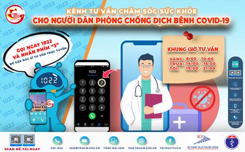 TP Hồ Chí Minh triển khai kênh tư vấn chăm sóc sức khỏe qua Cổng thông tin 1022