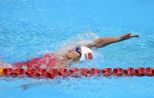 Ánh Viên dừng bước ở vòng loại 200m tự do