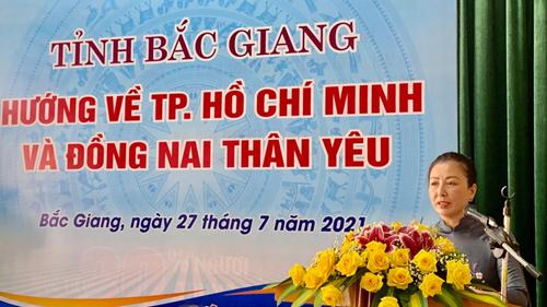 Bắc Giang Gần 200 tấn nhu yếu phẩm hỗ trợ miền Nam chống dịch