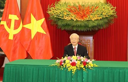 Điện đàm giữa Tổng Bí thư Nguyễn Phú Trọng với Bí thư thư nhất Đảng Cộng sản Cuba