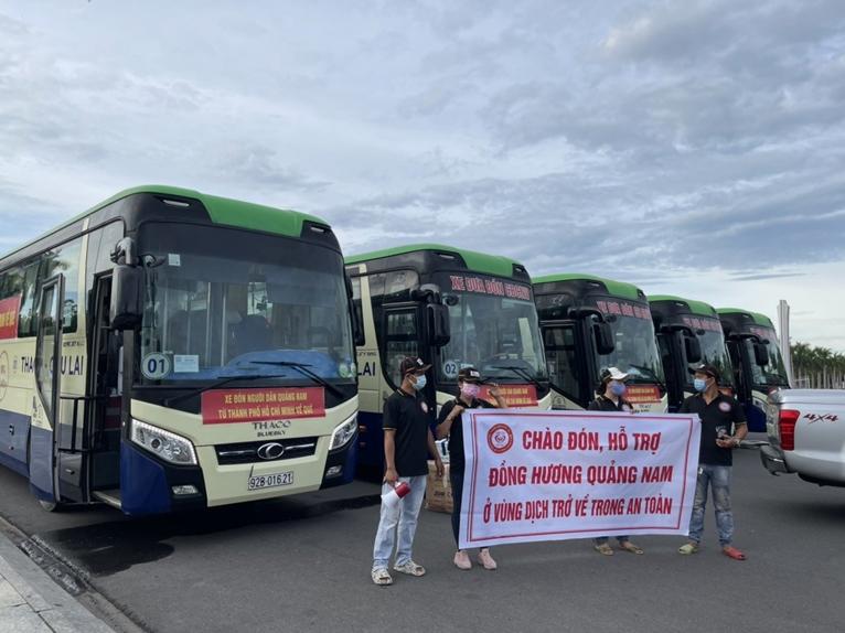 Quảng Nam huy động nhiều nguồn lực đưa đồng hương từ tâm dịch TP Hồ Chí Minh về quê