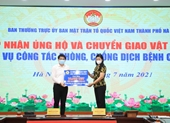 Hà Nội tiếp nhận hơn 1,6 tỷ đồng ủng hộ phòng, chống dịch COVID-19