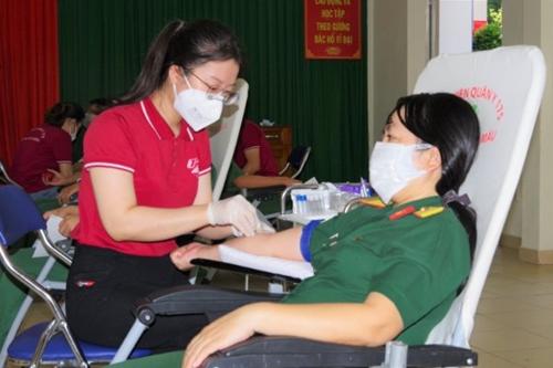 Trường Sĩ quan kỹ thuật quân sự phát động hiến máu tình nguyện