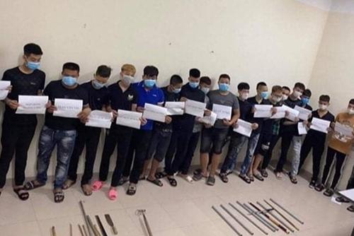 Hà Nam Bắt giữ hơn 30 thanh thiếu niên gây rối trật tự công cộng