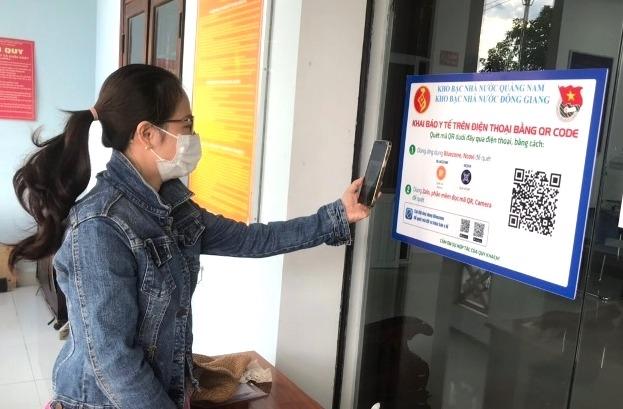 Quảng Nam đẩy mạnh khai báo y tế qua ứng dụng quét mã QR