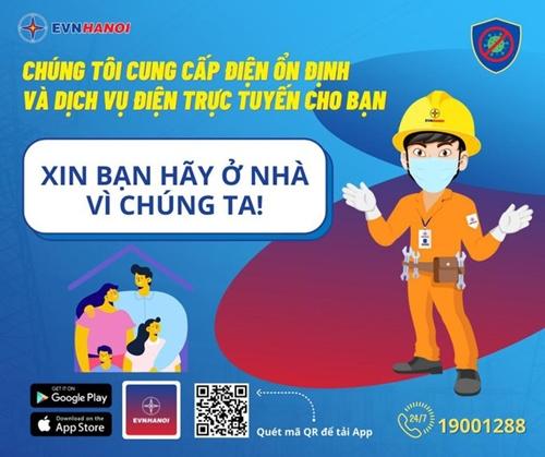 EVNHANOI khuyến nghị khách hàng sử dụng các dịch vụ điện trực tuyến