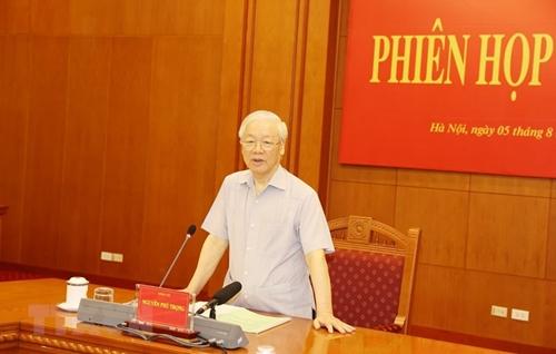 Tổng Bí thư Nguyễn Phú Trọng chủ trì Phiên họp thứ 20 của Ban Chỉ đạo chống tham nhũng