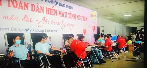 Khu công nghiệp Bảo Minh Nam Định  Tích cực hiến máu ủng hộ các tỉnh miền Nam