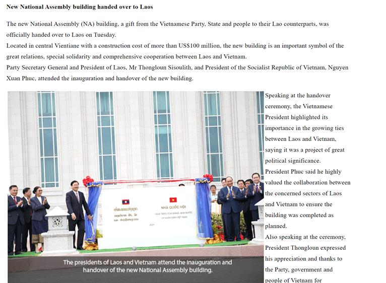 Vun đắp mối quan hệ hữu nghị vĩ đại, tình đoàn kết đặc biệt và quan hệ hợp tác toàn diện Việt - Lào