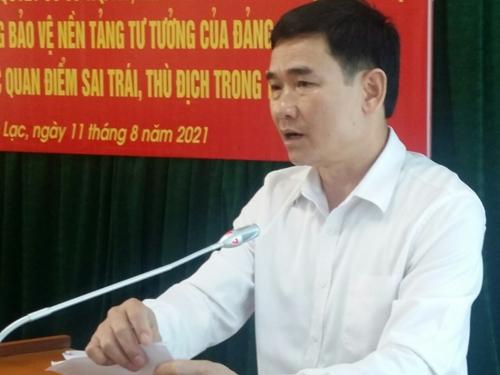 Tân Lạc Hòa Bình  Nhiều kết quả tích cực trong công tác bảo vệ nền tảng tư tưởng của Đảng