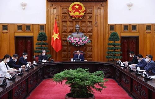 Thủ tướng Chính phủ Phạm Minh Chính tiếp Đại sứ Trung Quốc