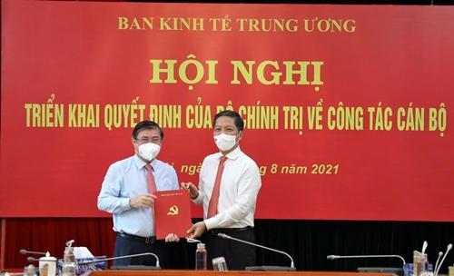 Đồng chí Nguyễn Thành Phong nhận chức Phó Trưởng Ban Kinh tế Trung ương