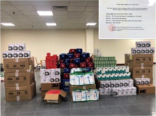 EVN Cấp bách hỗ trợ thuốc, vật tư y tế cho CBNV tại TP Hồ Chí Minh