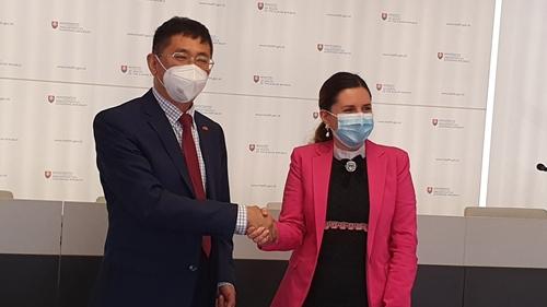 Đại sứ Nguyễn Tuấn làm việc với Bộ Y tế Slovakia về vấn đề vaccine và phòng chống COVID-19