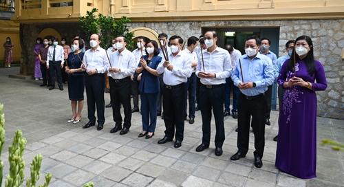 Lãnh đạo TP Hà Nội dâng hương tưởng niệm Tổng Bí thư Trần Phú