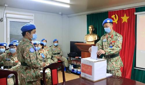 Quân nhân Việt Nam làm nhiệm vụ tại Nam Sudan gây Quỹ ủng hộ bệnh nhân nhiễm COVID-19 nặng