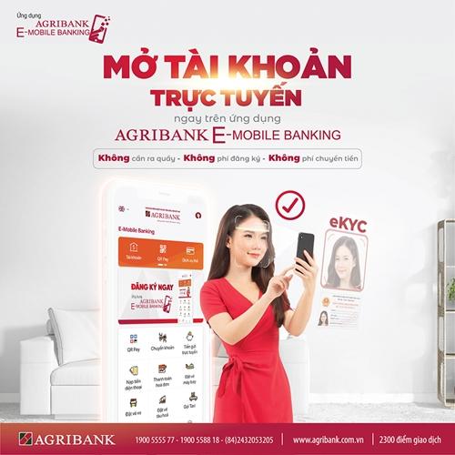 Agribank triển khai mở tài khoản trực tuyến bằng định danh điện tử eKYC
