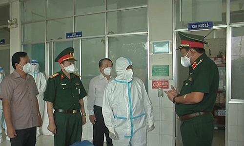 Thượng tướng Võ Minh Lương kiểm tra công tác phòng, chống dịch tại tỉnh Long An