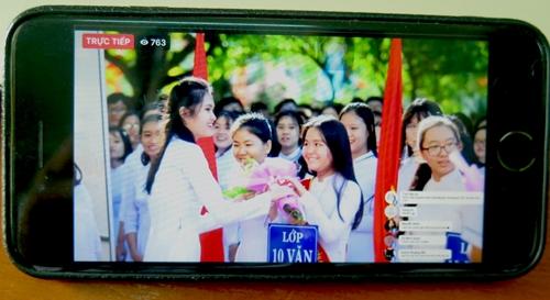 100 các trường ở bậc THCS và THPT ở Phú Yên khai giảng bằng hình thức trực tuyến