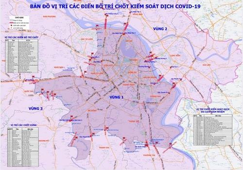 Phân luồng giao thông qua vị trí các chốt kiểm soát dịch COVID-19 tại Hà Nội