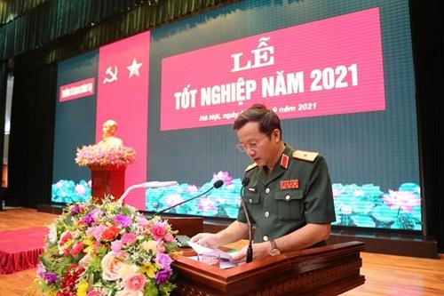 Trường Sĩ quan Chính trị tổ chức tốt nghiệp cho 840 học viên