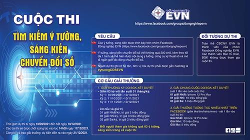 EVN tổ chức cuộc thi tìm kiếm ý tưởng, sáng kiến chuyển đổi số