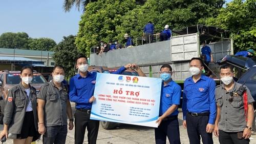 Tỉnh đoàn Hà Giang trao tặng 60 tấn nhu yếu phẩm hỗ trợ nhân dân Thủ đô