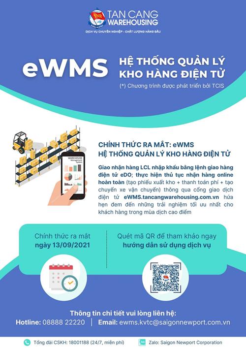 Công ty cổ phần Kho vận Tân cảng, chính thức ra mắt Hệ thống quản lý kho hàng điện tử eWMS