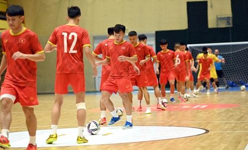 ĐT futsal Việt Nam sẵn sàng trước trận gặp ĐT futsal Brazil