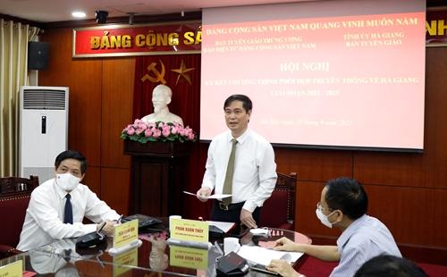 Phát biểu của đồng chí Phan Xuân Thủy, Phó Trưởng Ban Tuyên giáo Trung ương tại Hội nghị ký kết