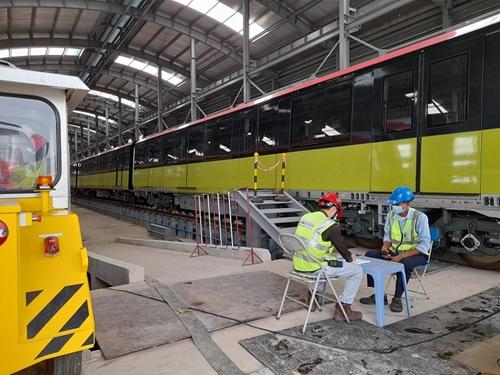 Thi công đường sắt đô thị trong giai đoạn thực hiện mục tiêu kép