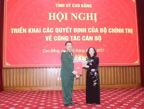 Trung tướng Trần Hồng Minh giữ chức Bí thư Tỉnh ủy Cao Bằng