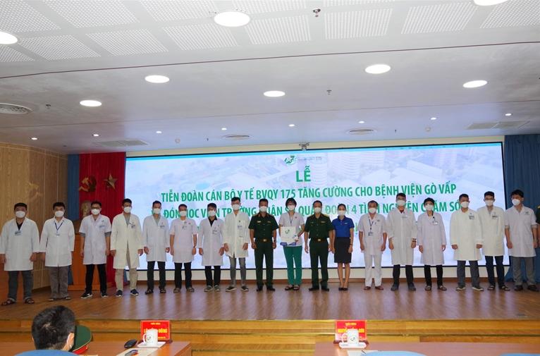 Bệnh viện Quân y 175 tăng cường nhân lực cho Bệnh viện điều trị COVID-19 quận Gò Vấp