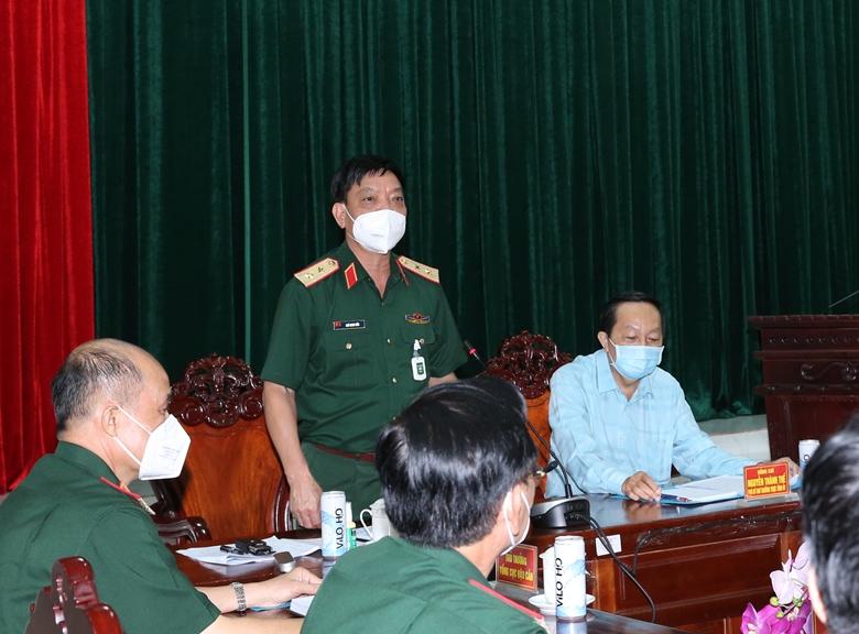 Trung tướng Ngô Minh Tiến phát biểu kết luận buổi kiểm tra