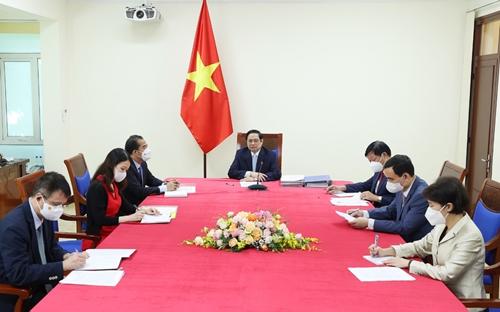 Thủ tướng Phạm Minh Chính đề nghị COVAX phân bổ nhanh số lượng vắc-xin đã cam kết cho Việt Nam