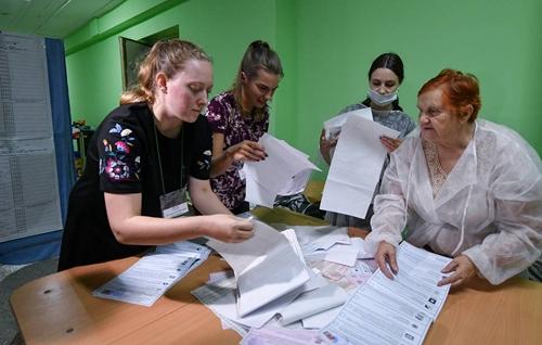 Bầu cử Hạ viện Nga Đảng Nước Nga Thống nhất tạm dẫn đầu