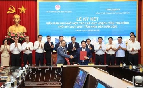 Ký kết hợp tác quy hoạch tỉnh Thái Bình thời kỳ 2021 – 2030