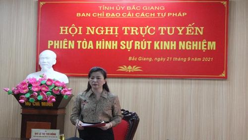 Bắc Giang Nâng cao chất lượng điều hành phiên tòa xét xử án hình sự