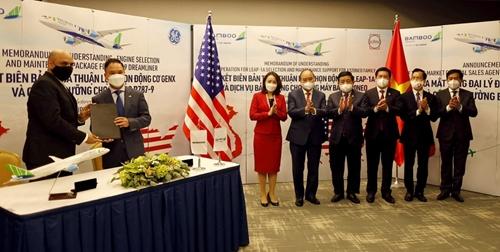 Bamboo Airways ký thoả thuận động cơ máy bay 2 tỷ USD với General Electric
