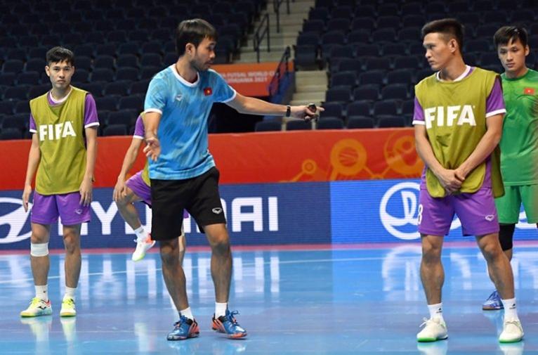 ĐT futsal Việt Nam sẵn sàng cho cuộc đọ sức với ĐT futsal Nga