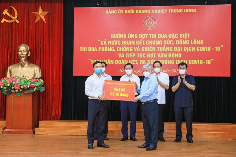 Đảng ủy Khối Doanh nghiệp Trung ương Gần 36 tỷ đồng ủng hộ phòng chống COVID-19