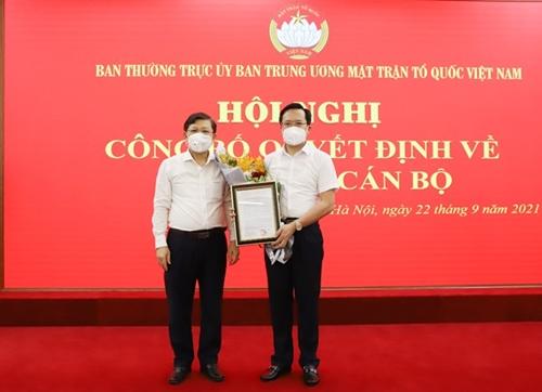 Uỷ ban Trung ương MTTQ Việt Nam triển khai quyết định về công tác cán bộ